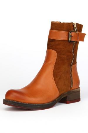 Ботинки утепленные, байка OSSO. Цвет: рыжий
