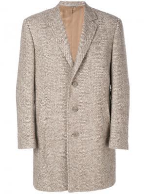 Классическое пальто Canali. Цвет: телесный