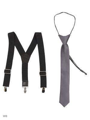 Подтяжки Stilmark. Цвет: серый, черный