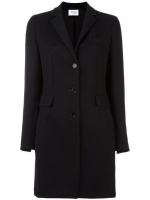 Однобортное пальто Akris Punto. Цвет: чёрный