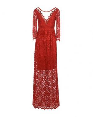 Длинное платье SONIA FORTUNA. Цвет: красный