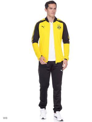 Пуловер BVB Poly Jacket with 2 side pockets zip PUMA. Цвет: желтый, черный