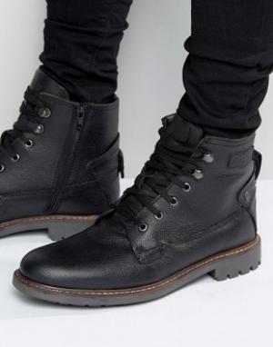 Firetrap Армейские ботинки на шнуровке. Цвет: черный