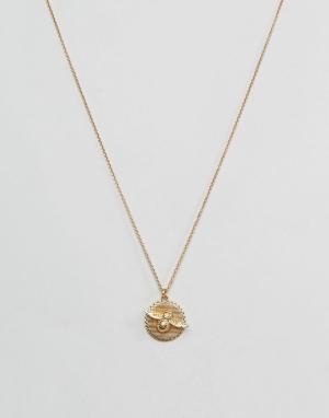 Olivia Burton Ожерелье с пчелкой и монетой. Цвет: золотой
