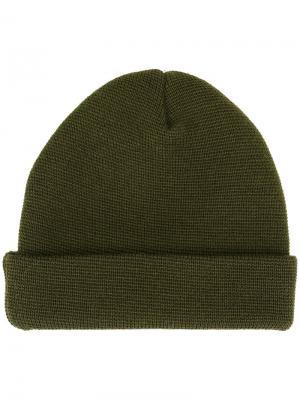 Вязаная шапка-бини Études. Цвет: зелёный