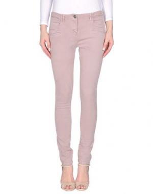 Повседневные брюки KRISTINA TI. Цвет: светло-розовый