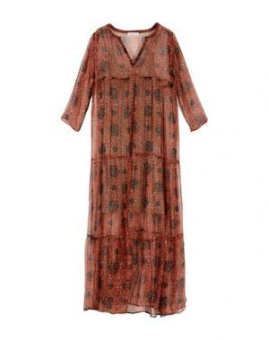 Длинное платье BELLA JONES. Цвет: ржаво-коричневый