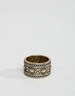 ASOS Золотистое кольцо DESIGN. Цвет: золотой