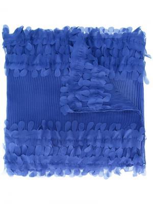 Плиссированный платок Armani Collezioni. Цвет: синий