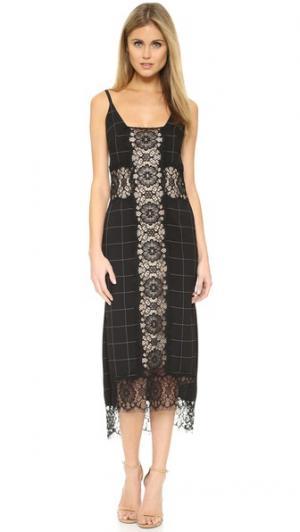 Платье-комбинация Sadie KEMPNER. Цвет: черный мульти