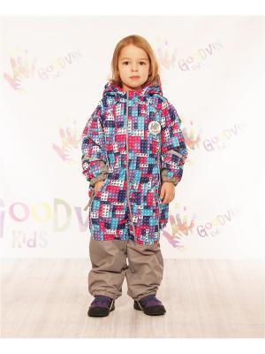 Комбинезон демисезонный  для девочки Мила GooDvinKids. Цвет: голубой, сиреневый, розовый