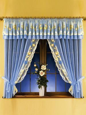 Комплект штор Wisan. Цвет: голубой