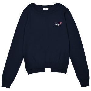 Пуловер из тонкого трикотажа с вышивкой 10-16 лет La Redoute Collections. Цвет: синий морской