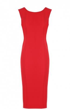 Платье-футляр с V-образным вырезом на спинке Flashin. Цвет: красный