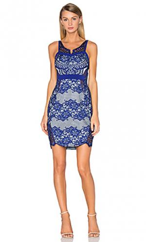 Платье миди lilth Three Floor. Цвет: синий