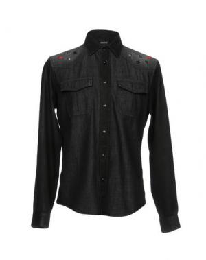 Джинсовая рубашка JUST CAVALLI. Цвет: черный