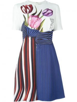 Расклешенное платье Alli Mary Katrantzou. Цвет: белый