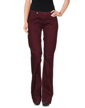 Повседневные брюки TRUE NYC.. Цвет: красно-коричневый