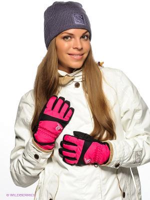 Перчатки SALOMON. Цвет: розовый, черный