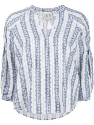 Блузка в крестьянском стиле Sea. Цвет: белый