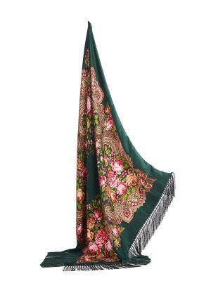 Платок с бахромой Язык цветов Nothing but Love. Цвет: зеленый, оранжевый, розовый
