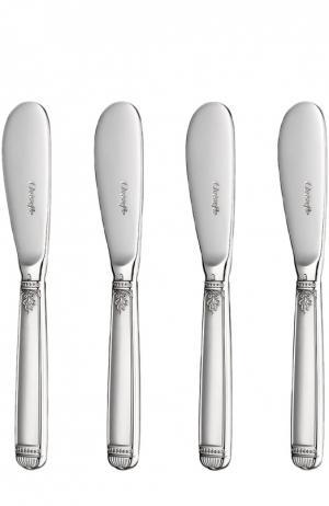Набор из 4-х ножей для масла Malmaison Christofle. Цвет: бесцветный