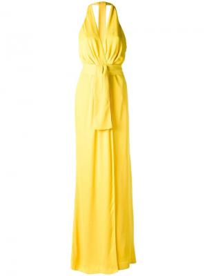 Halter neck gown Tufi Duek. Цвет: жёлтый и оранжевый