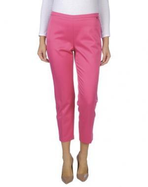 Повседневные брюки CARLA MONTANARINI. Цвет: фуксия