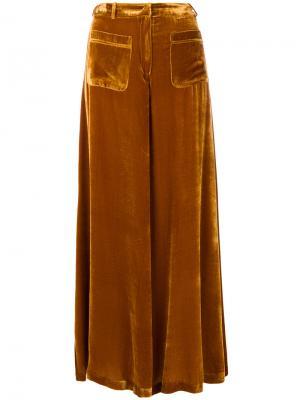 Расклешенные брюки Vivetta. Цвет: жёлтый и оранжевый