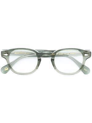 Очки Lemtosh 44 Moscot. Цвет: зелёный
