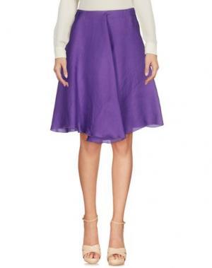 Юбка до колена ALBINO. Цвет: фиолетовый