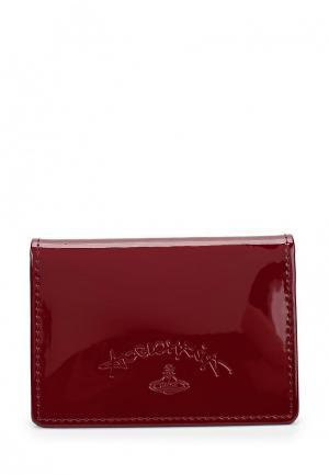 Визитница Vivienne Westwood Anglomania. Цвет: красный
