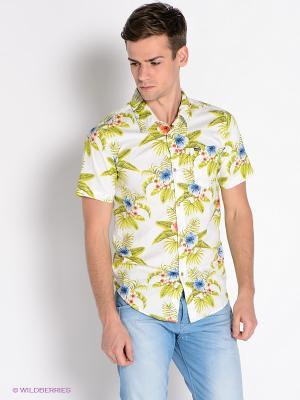 Рубашка Mezaguz. Цвет: молочный, салатовый