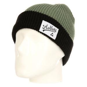 Шапка  Pin Green/Black Ashbury. Цвет: зеленый,черный