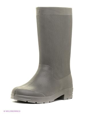 Резиновые сапоги Janett. Цвет: серый