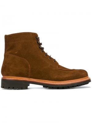 Ботинки Grover Apron Grenson. Цвет: коричневый
