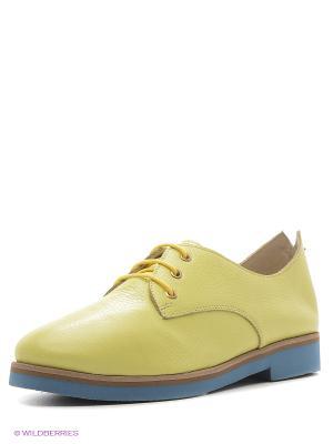Туфли MILANA. Цвет: желтый
