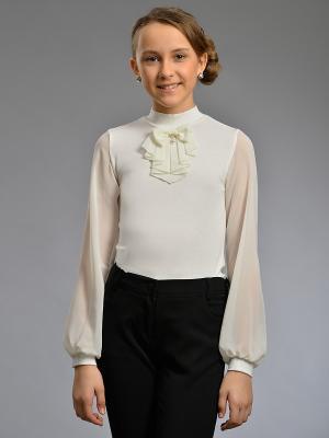 Блузка с длинными рукавами DESTY. Цвет: молочный
