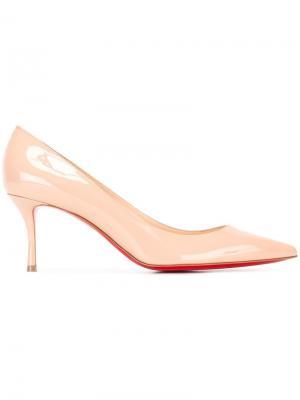 Туфли на низком каблуке Christian Louboutin. Цвет: телесный