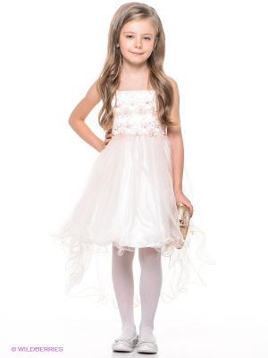 Платье ERKUT. Цвет: молочный, бледно-розовый