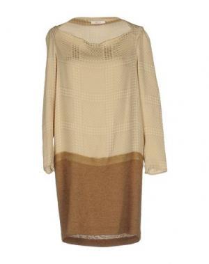 Короткое платье GOLD CASE. Цвет: бежевый