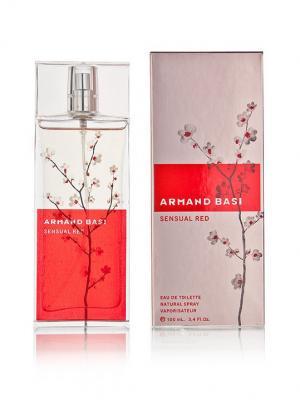 Sensual Red lady edt 100 ml Armand Basi. Цвет: красный, розовый