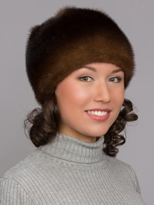 Шапка Slava Furs. Цвет: коричневый