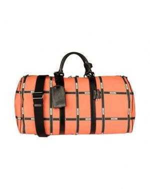 Дорожная сумка MOSCHINO COUTURE. Цвет: оранжевый