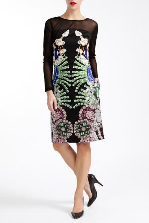 Платье PAOLA COLLECTION. Цвет: мультицвет