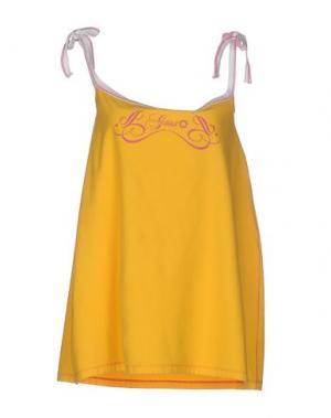 Короткое платье GSUS SINDUSTRIES. Цвет: желтый
