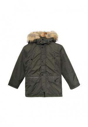 Куртка утепленная Staccato. Цвет: зеленый