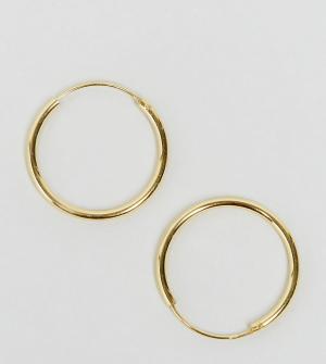 ASOS Позолоченные серебряные серьги‑кольца 20 мм. Цвет: золотой