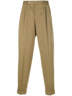 Классические брюки Paul Smith. Цвет: коричневый