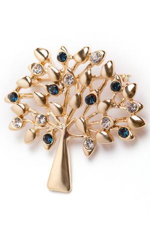 Брошь Денежное дерево Beatrici Lux. Цвет: золотой, синий